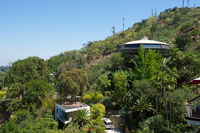 Chemosphere House, designed by John Lautner in 1960, Hollywood Hills, Los Angeles.
