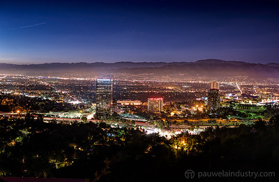 Hollywood Hills and Poquito Mas at night
