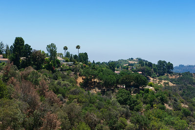 Mulholland Drive, Hollywood Hills, Los Angeles.