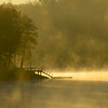 Lake Secession morning mist in upstate SC