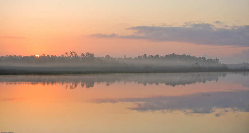 Sunrise on Beresford Creek off the Wando River in Charleston SC III