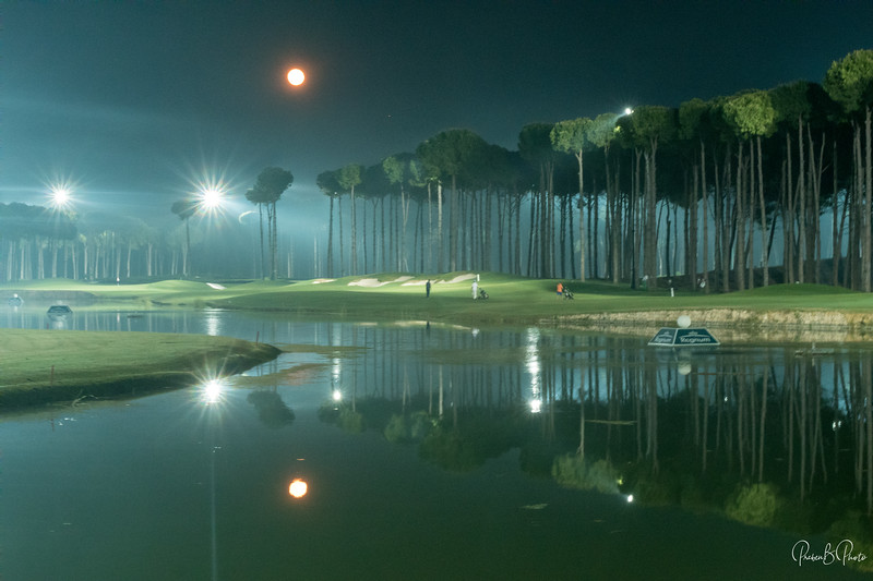 Night golf at Carya