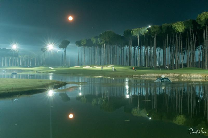 Night golf at Carya