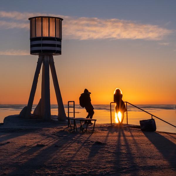 Sunrise at Bellevue Beach, Copenhagen