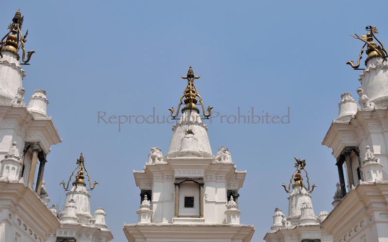 Temple Minarets Pashupati, Nepal