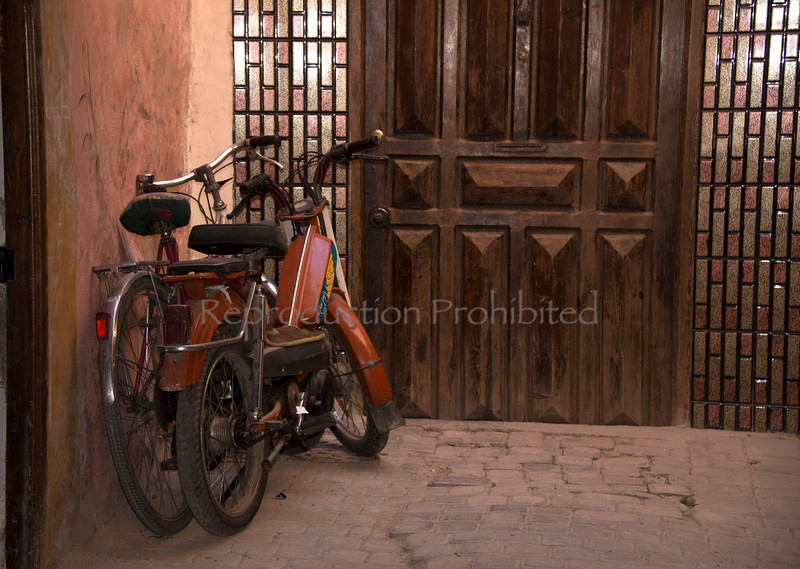 2 Bikes Somewhere in the Marrakech Medina April 2013