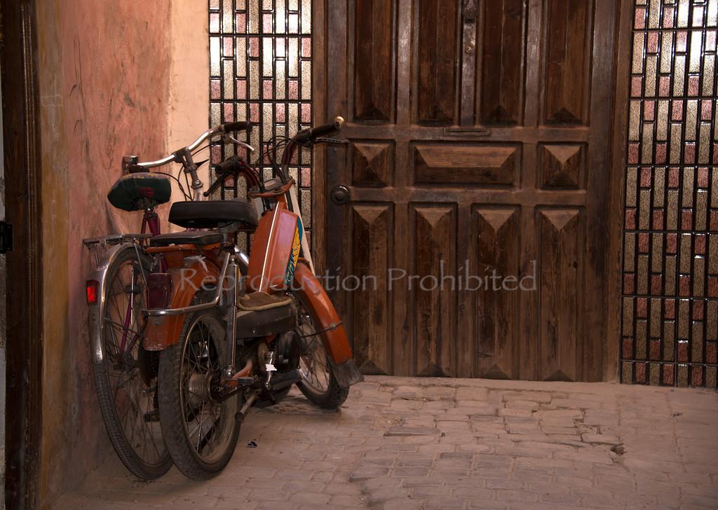 2 Bikes Somewhere in the Marrakech Medina April 2013
