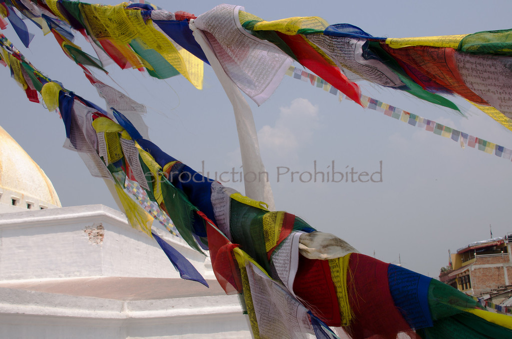 Prayer Flags Boudanath, Nepal