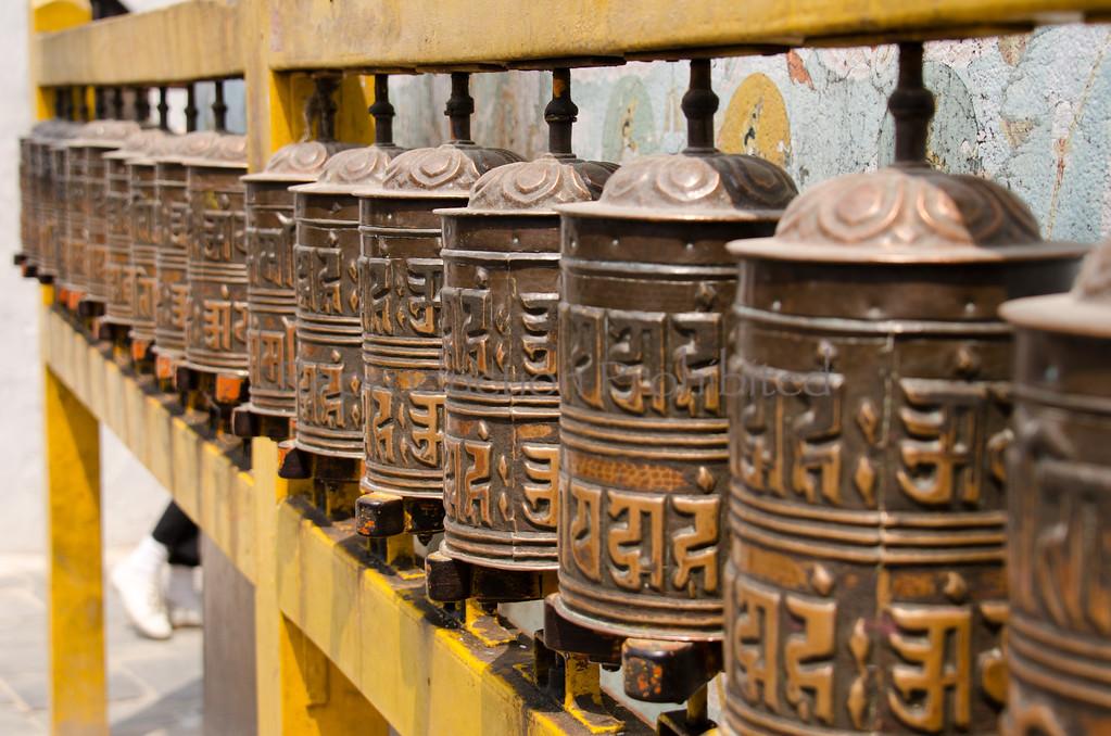 Prayer Wheels Boudhanath Stupa, Nepal