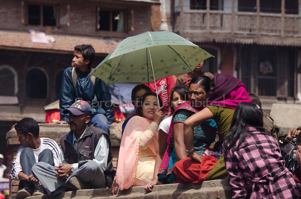 Woman at New Year Celebration Bhaktapur, Nepal