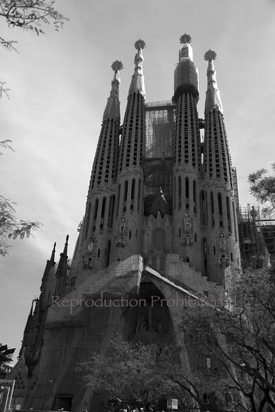 La Sagrada Familia Barcelona Spain April 2013