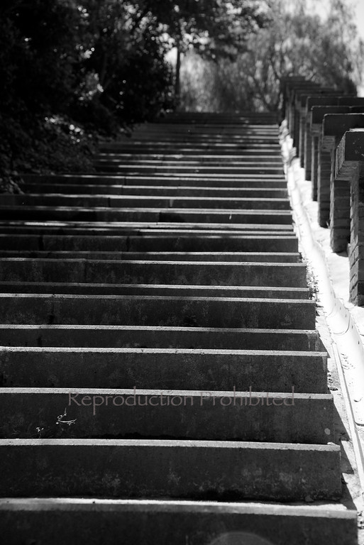 Stairs Barcelona Spain April 2013