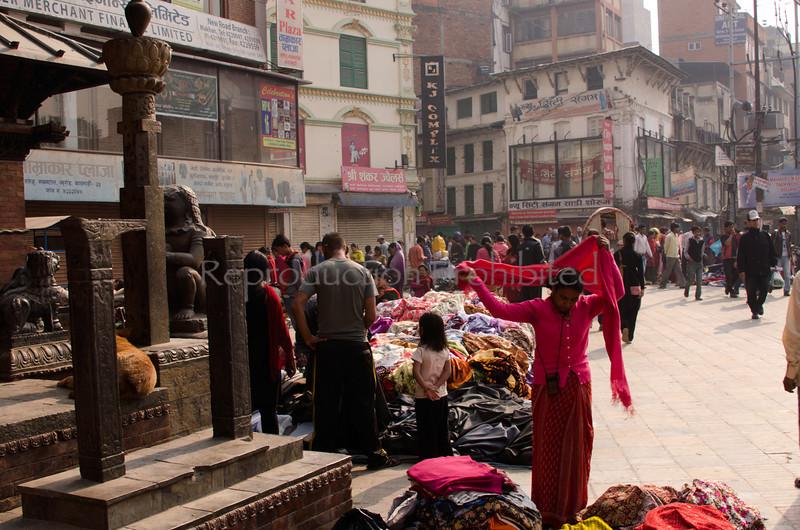 Preparing for Market Kathmandu, Nepal