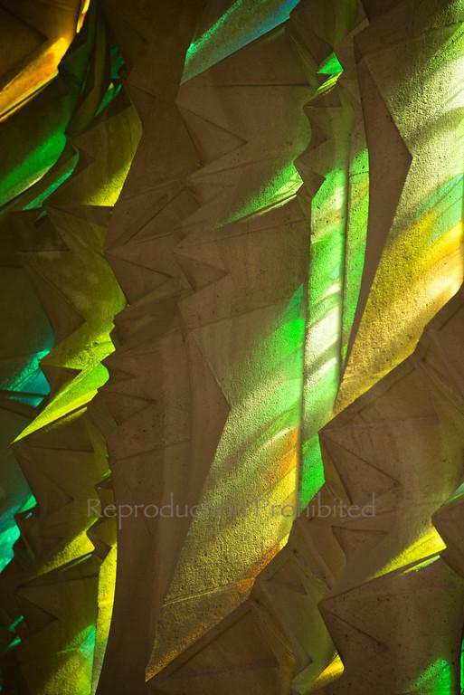 Jagged Light Temple de la Sagrada Familia Barcelona Spain April 2013