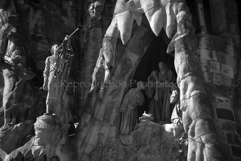 At Each Birth Temple de La Sagrada Familia Barcelona Spain April 2013