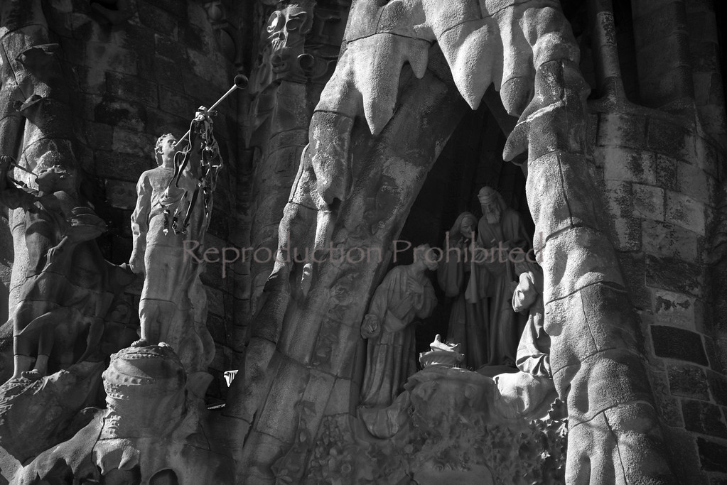 At Each Birth Temple de La Sagrada Familia Barcelona Spain April 2013
