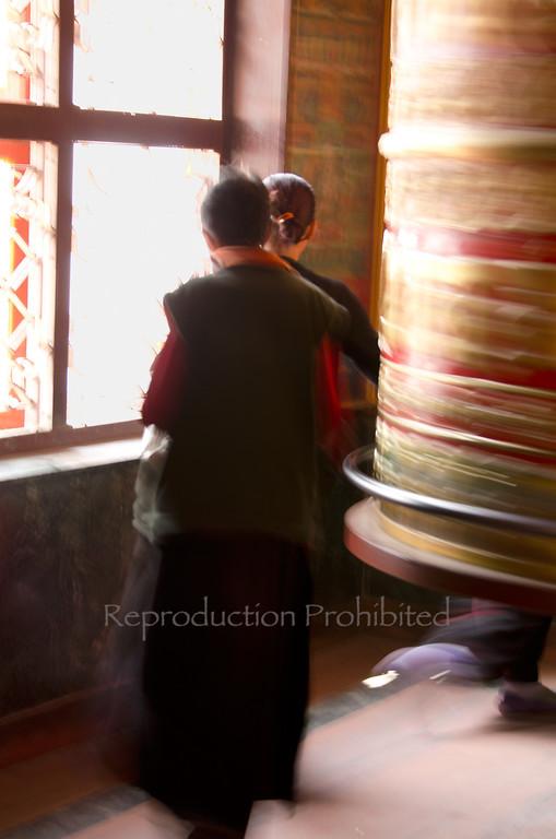Giant Buddhist Prayer Wheel Boudhanath Stupa, Nepal