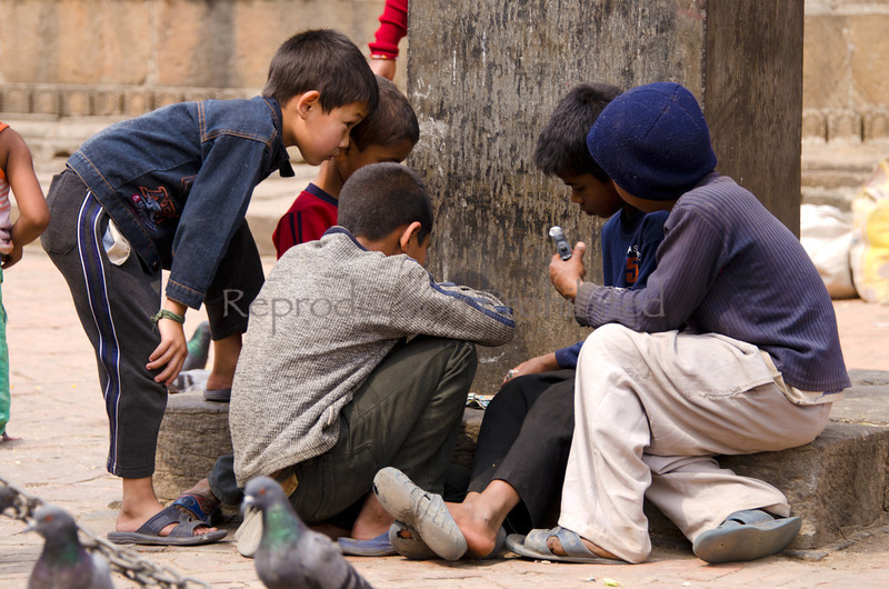 Boys Playing Patan, Kathmandu, Nepal