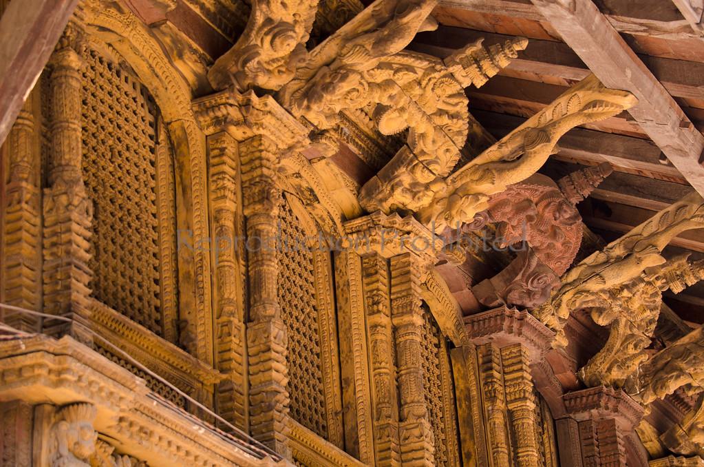 Temple Carvings Bhaktapur, Nepal