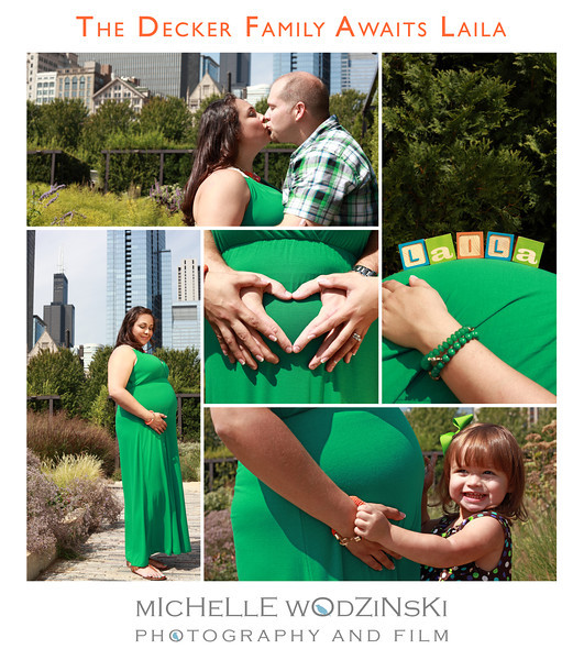 THE DECKER FAMILY AWAITS BABY LAILA<br /> <br /> Millenium Park