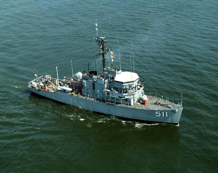 USS Affray (MSO-511)<br /> <br /> Date: April 16 1984<br /> Location: Hampton Roads VA<br /> Source: Nobe Smith - Atlantic Fleet Sales