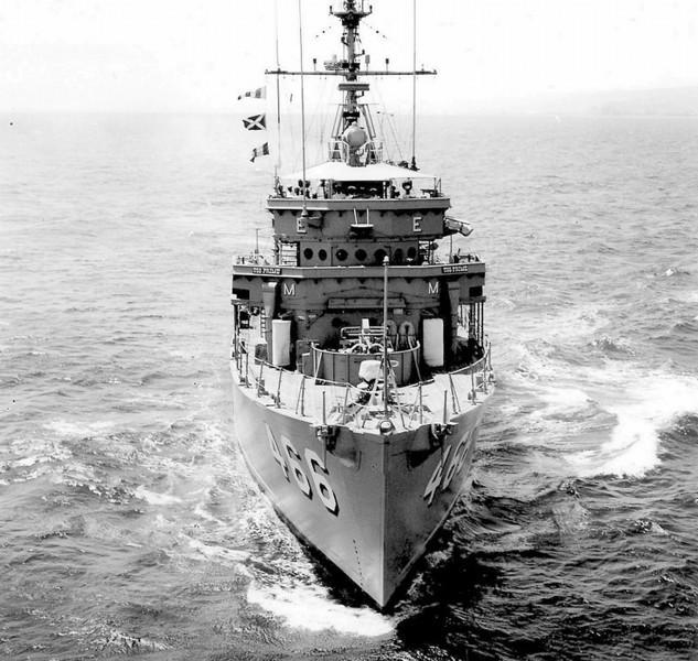 USS Prime (MSO-466)<br /> <br /> Date: Unknown<br /> Location: Probably Long Beach CA<br /> Source: Nobe Smith - Atlantic Fleet Sales