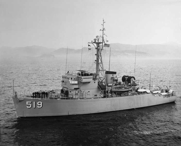 USS Ability (MSO-519)<br /> <br /> Date: September 1960<br /> Location: Off coast of Nice, France<br /> Source: CDR Larry L. Hawkins, CO of Ability, 1960-1962 (Photo lent to Nobe Smith in Sept 1964  for copy)