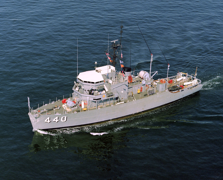 USS Exploit (MSO-440)<br /> <br /> Date: September 9 1980<br /> Location: Hampton Roads VA<br /> Source: Nobe Smith - Atlantic Fleet Sales
