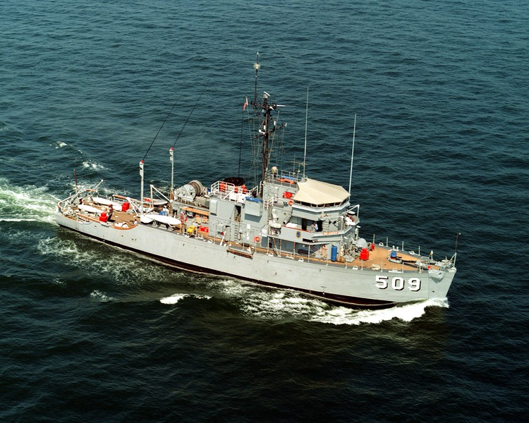 USS Adroit (MSO-509)<br /> <br /> Date: June 11 1984<br /> Location: Hampton Roads VA<br /> Source: Nobe Smith - Atlantic Fleet Sales