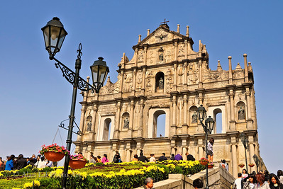 The ruins of St. Paul Cathedral, Macau.  This is the icon for Macau.