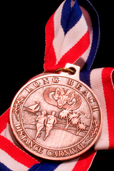 Keith's running medal