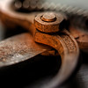 Rusty old cutting tool