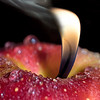 Apple with flame