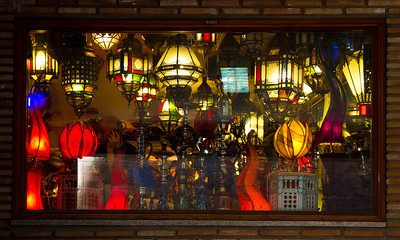 Window of a lamp shop, Toledo