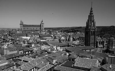 View from Iglesia San Ildefonso Jesuitas, Toledo