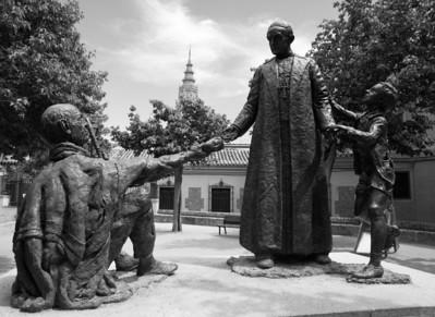 Sculpture in front of  Iglesia San Ildefonso Jesuitas, Toledo