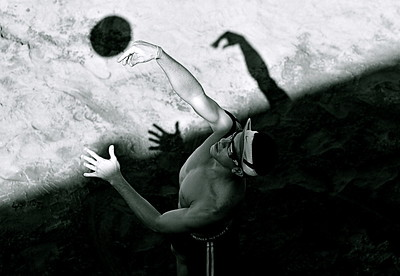 "Puerto Vallarta Photography, Magical Seconds Series by  International Award Winning Photographer Andres Barria ""La pelota de Voleyball"""