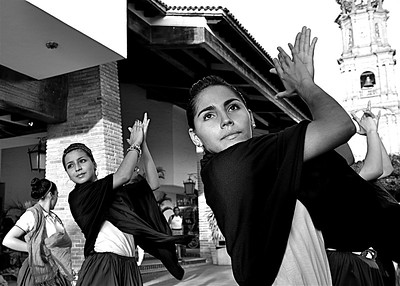 "Puerto Vallarta Photography, Magical Seconds Series by  International Award Winning Photographer Andres Barria ""The dancers of the main square"""