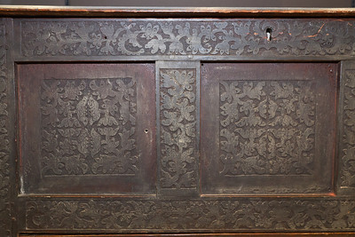 Two of the three front detailed panels of the Drake Chest photo Justin Gillette Weekes