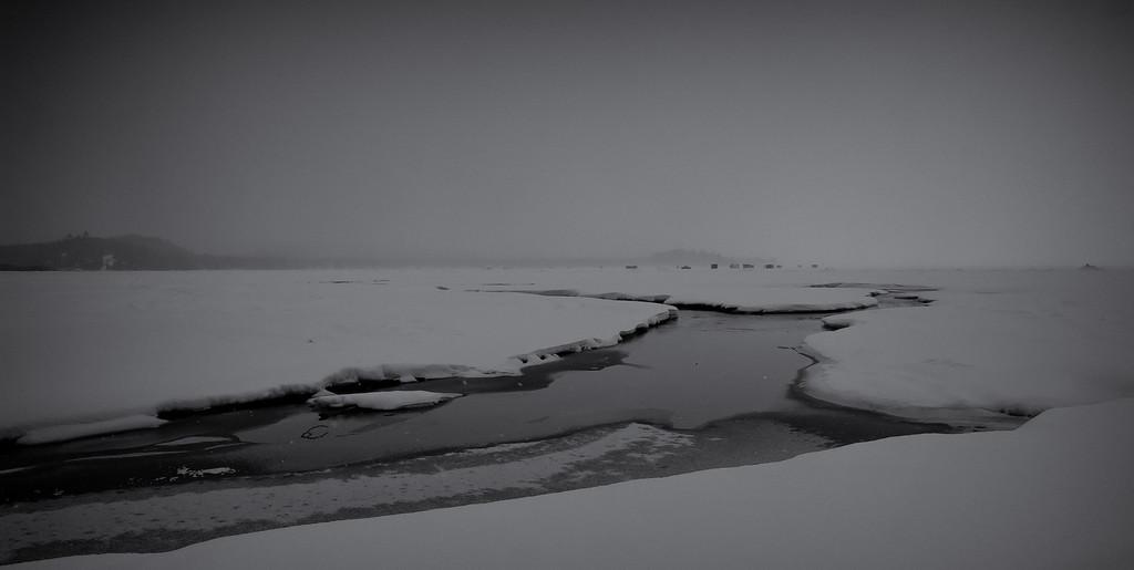 Ice huts, Havilland Bay, Ontario
