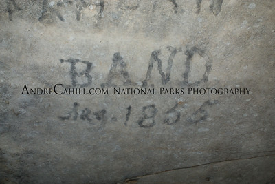 There was a band that practiced in the cave in 1855