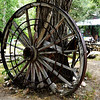 Large Wagon Wheel in Lundy CA Near Lee Vining CA