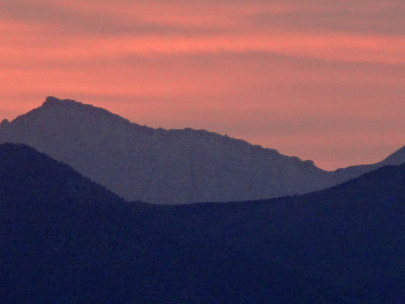 Sunrise at Mammoth Lakes CA