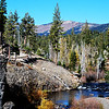 Near Rainbow Falls near Mammoth Lakes California