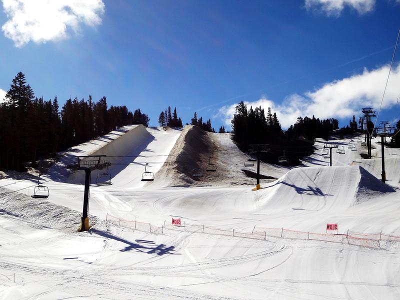 Snow Board Runs at Mammoth Lakes CA 2