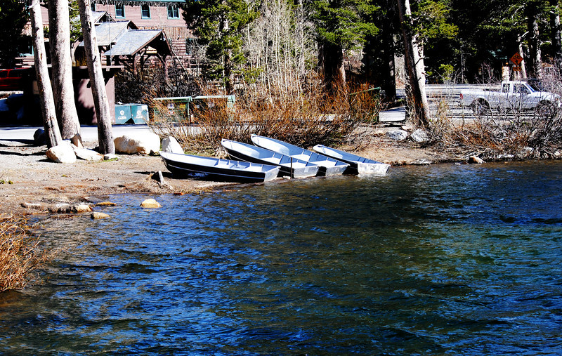 Boats are Ready for Fishing Season at Mammoth Lakes