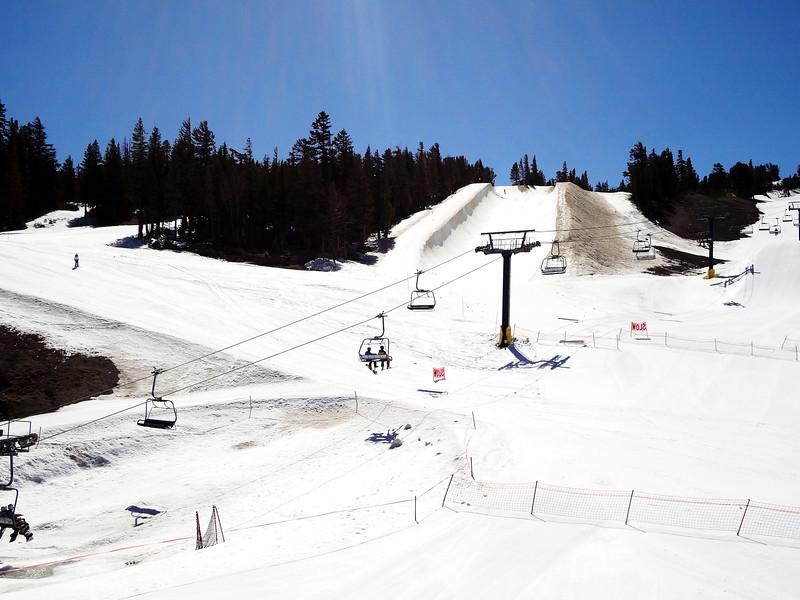 Snow Board Runs at Mammoth Lakes CA