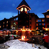 Clock Tower in Mammoth Lakes Village in California