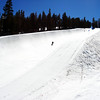 Snowboarding in the half pipe