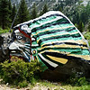 Painted Rock in Lundy Canyon Near Lee Vining CA